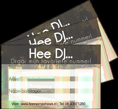 De DJ draait jullie verzoeken