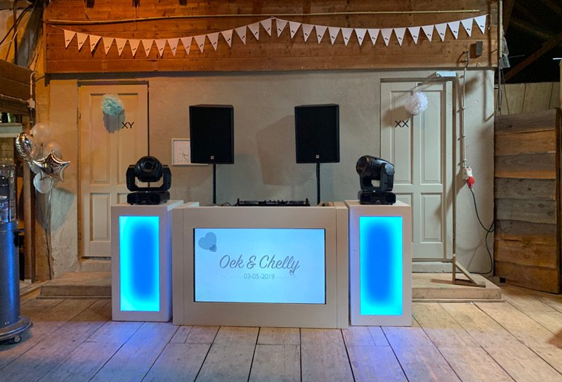 WHITE TV DJ Booth
